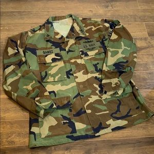 VTG AUTHENTIC Military Issue CAMO Shirt Jacket